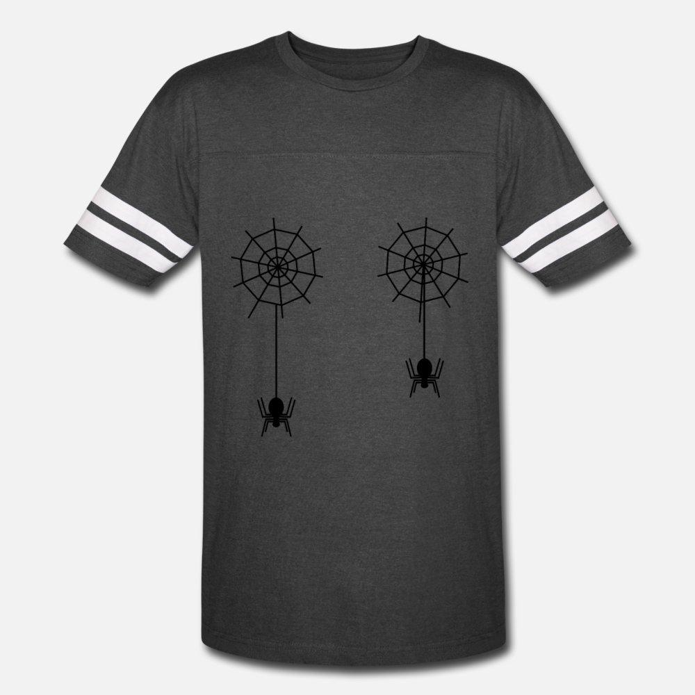 Women's Spiderwebs Boobs Spiders Tarantula Spider t shirt men Customized tee shirt S-3xl Unisex Graphic fashion Spring Natural shirt