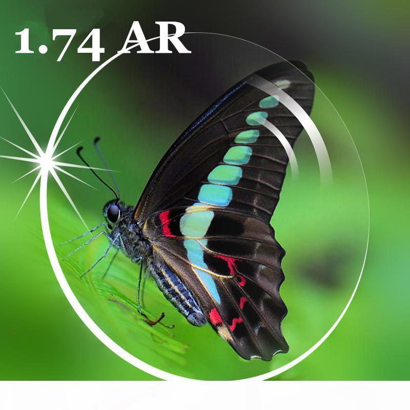 1,74 Просветляющие AR очки клиринговые линзы Оптические линзы для глаз Линзы оптические Линзы Супер тонкий Асферические смолы линзы по рецепту