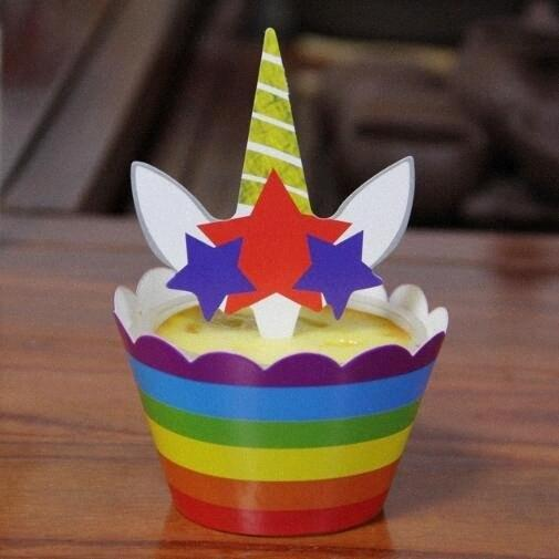 6set / lot bolo Topper cores Bolo redor Edge e inserção de cartão Party Supplies K0n8 #