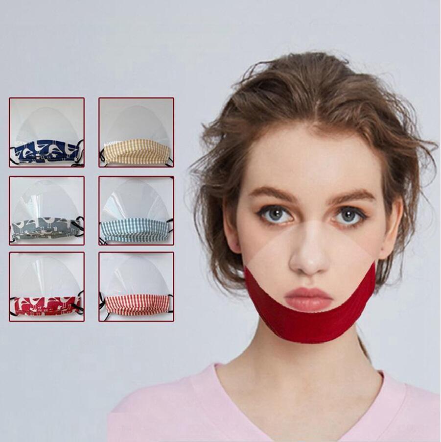 Trasparente Maschera Viso sordomuto traspirante anti-fog riutilizzabile lavabile Bocca Safety Shield Lip visiva Visiera Protezione DDA359