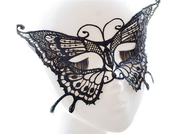Estilos de mariposa del baile atractivo partido de las mujeres del cordón de media máscara máscara de lujo Baile de Máscaras