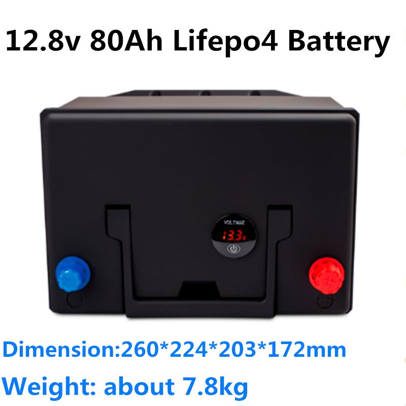 GTK 12.8V 80Ah LiFePO4 Batterie-Pack-LCD-Bildschirm mit starken BMS für Solare Speicherkraftsystem + 14.6V 10A Ladegerät