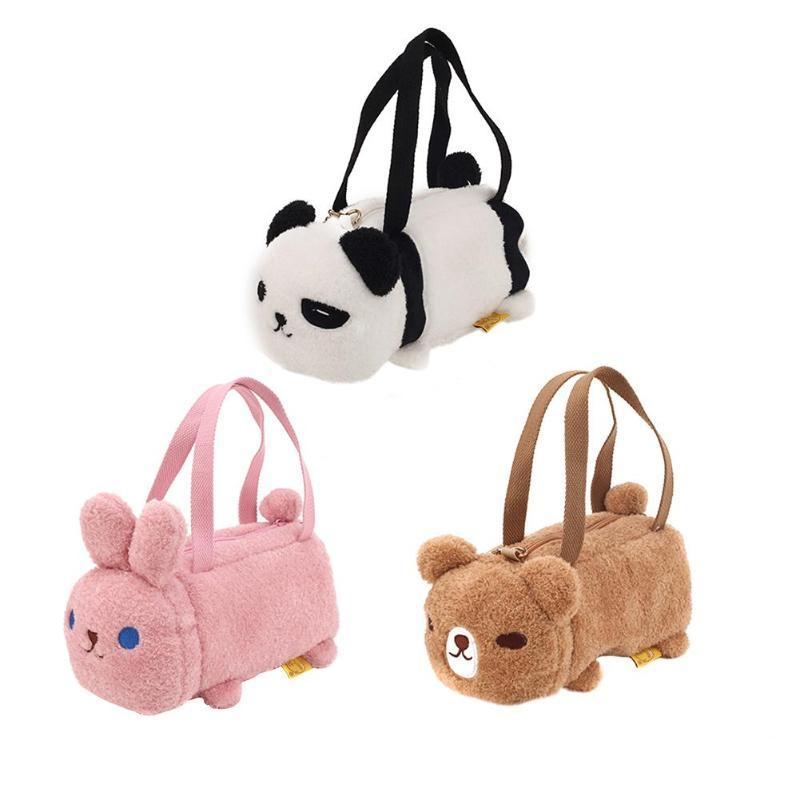 Heißer Verkaufs-Handtaschen Multifunktions tragbare Plüsch schöne Frauen Schultertasche Tierpuppe Kleine Messenger Einkaufstasche