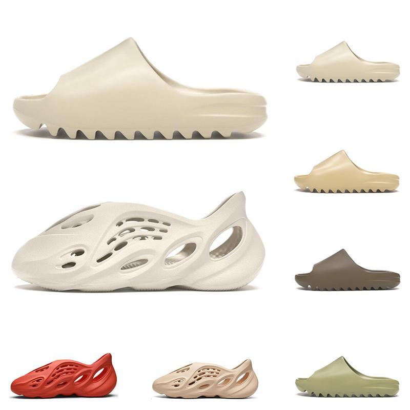New kanye west slide men women slippers Bone Desert Sand Resin Earth Brown Ararat runner triple black mens slides beach hotel sandal outdoor
