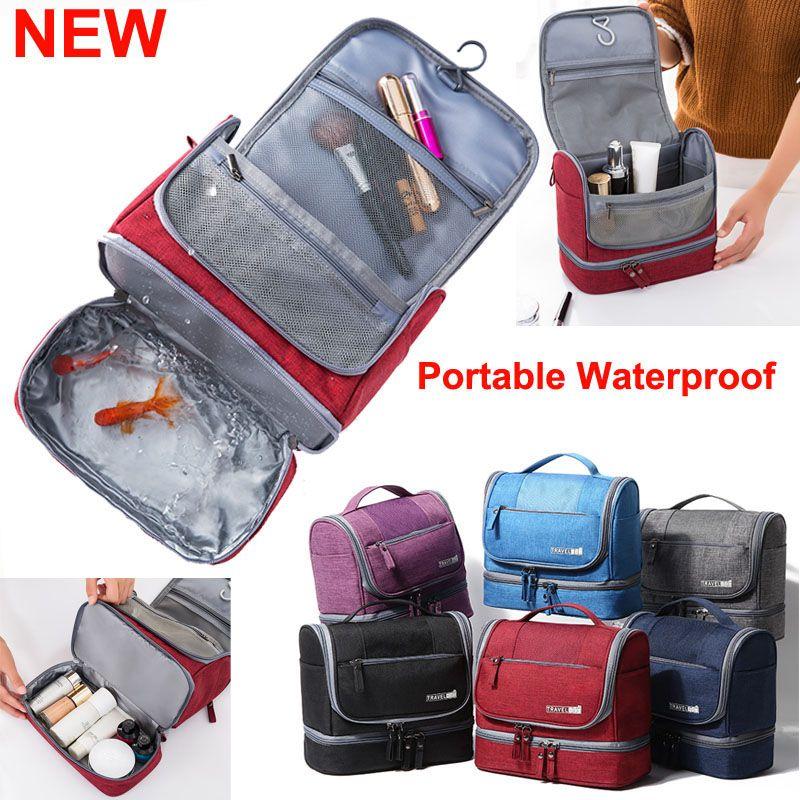 NEW Hanging Toiletry Bag Travel Cosmetics Organizer Shower Bathroom Bag for Men Women Portable Waterproof Makeup Bags Extra Large Capacity