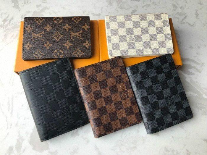 Neue gute Qualität Paßabdeckung Luxus klassischen Männer Frauen Luxus Paßhalter Abdeckungen Kartenhalter r2zP #