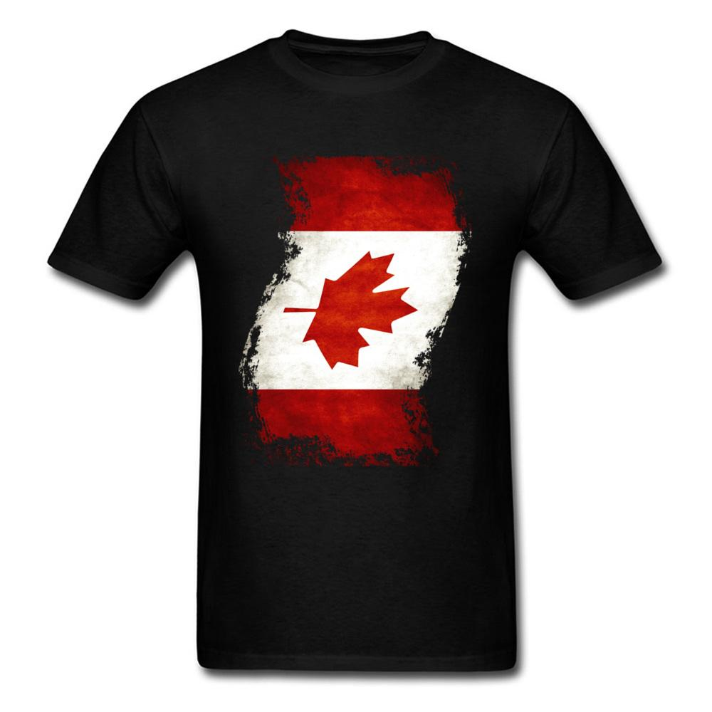 Les hommes de l'équipe T-shirt personnalisé onduleux Canada Drapeau peinture rouge blanc noir T-shirts Feuille d'érable Rétro Top Tee gros