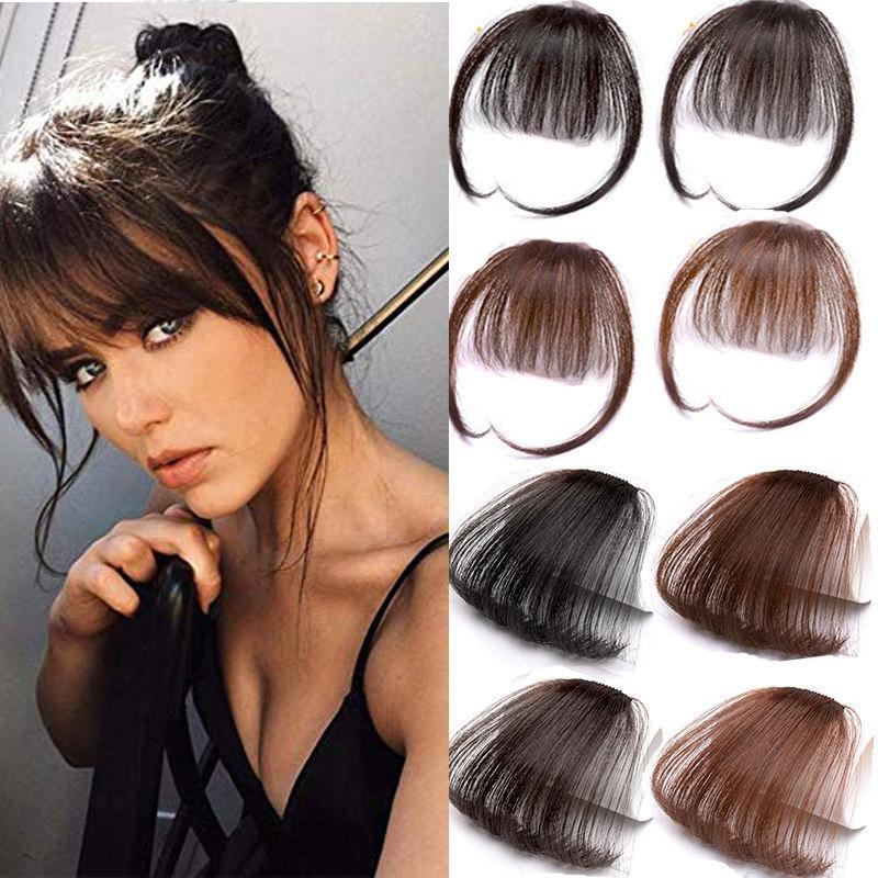 A Dilys Clip in Caph Caph Bangs Parrucchiere Accessori Sintetica Falke Bangs Bangs Hair Piece Clip in estensioni dei capelli