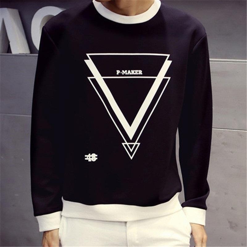 одежда одежда с длинными рукавами Т- пальто футболки новый корейский осенью свитер полосатый базовый рубашку студент Мужской стиль пальто мужская весна 1RU7b