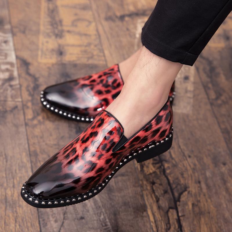 Masculinos Casual Sapatos de couro Leopard Padrão respirável Lefu Sapatos chaussures externas homme condução de Homens férias