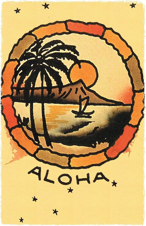 Havaí Aloha Porto Vintage Sailor Jerry Decoração pintado à mão HD impressão pintura a óleo sobre tela Wall Art Canvas Pictures 200905