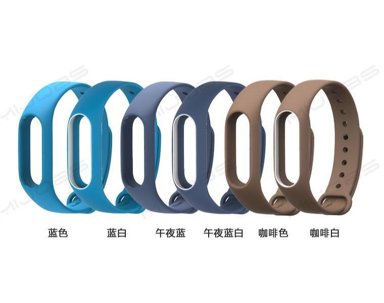 Xiaomi Mi Band 2 kemeri için 500pcs Bilezik Aksesuarları Pulseira Miband Yedek Silikon bileklik Akıllı Bilek