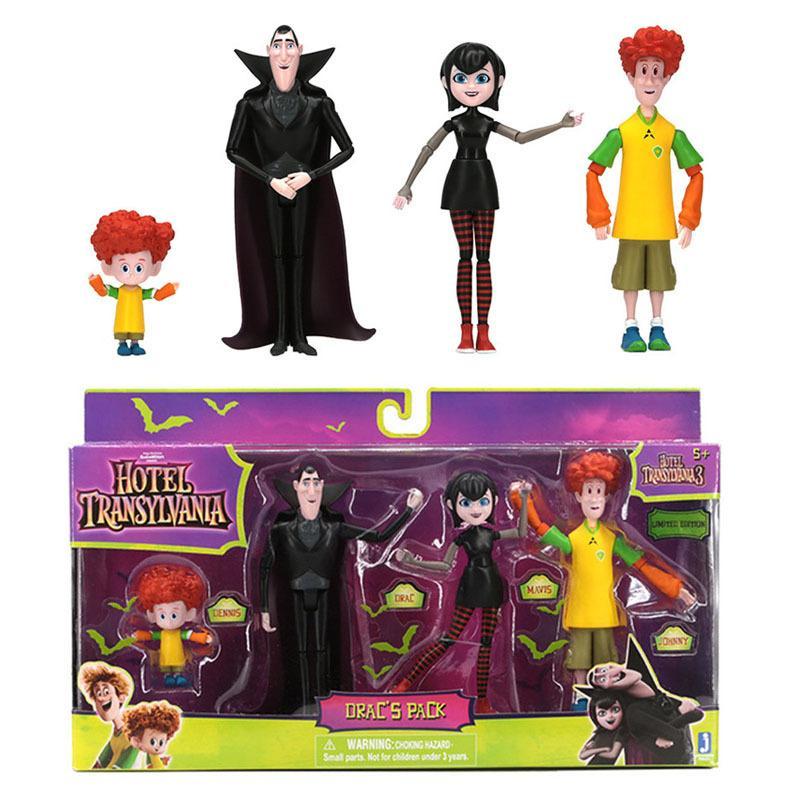 Original Hotel Transylvania 3 Family Vacation Action Figure Toy Brinquedos Dracula Mavis Johnny Dennis Anime Figurals Dolls Gift LJ200924