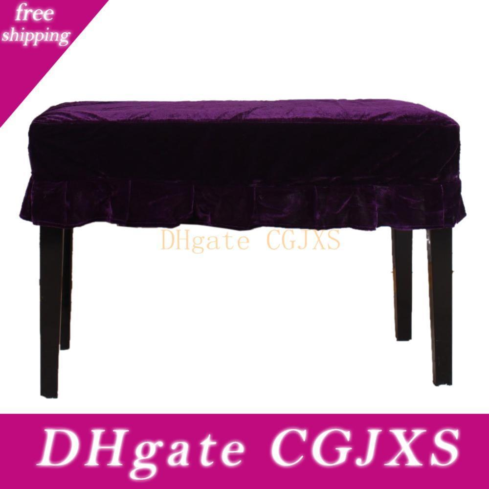 Premium Pleuche Piano Stool Chair Bench Cover Sleeve with Macrame Decorated PICK