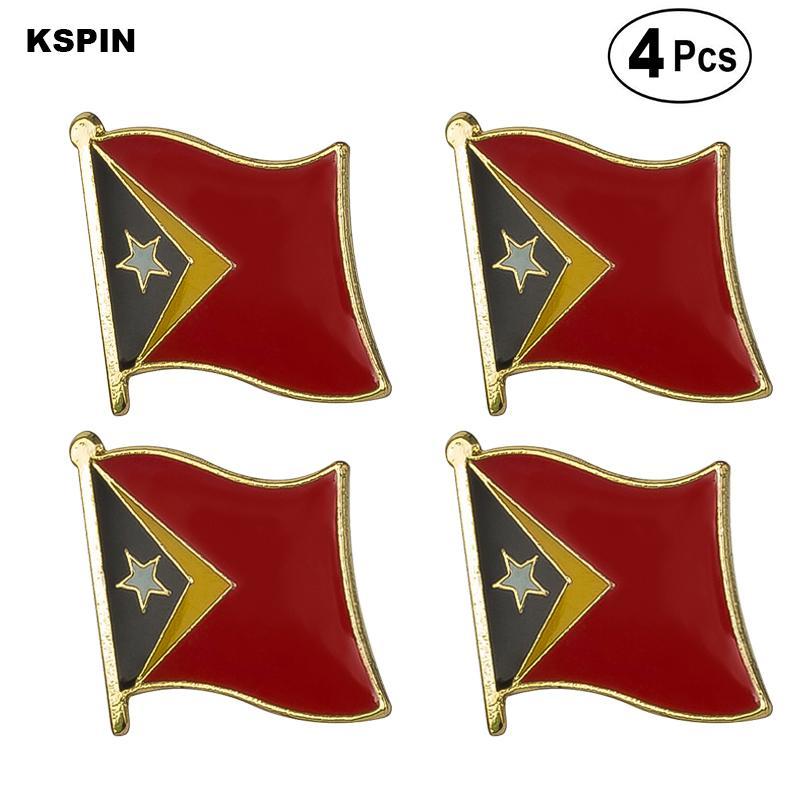 Восточный Тимор Флаг Pin отворотом Pin Badge Брошь иконки 4PC