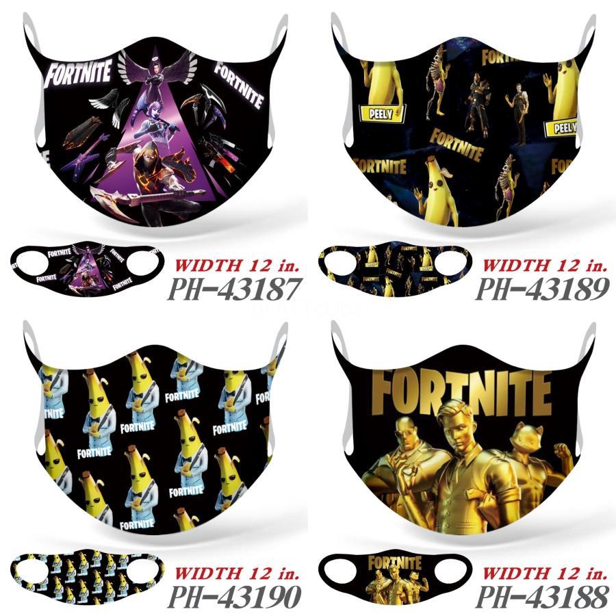 La moda del estampado leopardo Cara Fortnite Máscaras DesignerFortnite MasksWashable DustproofRiding Ciclismo Hombres Mujeres deportes al aire libre Imprimir Boca Para # 420