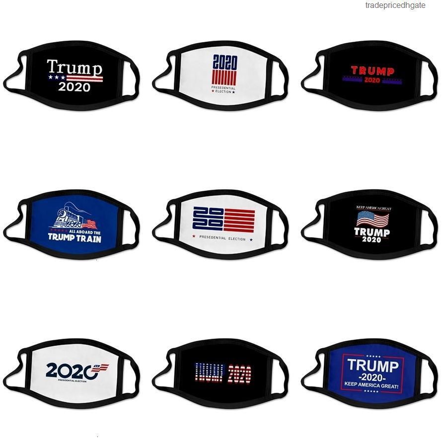 Máscaras Moda de protección a prueba de polvo del brillo Diseñador Segura Trump PM2,5 respiración cara protecive Máscara reutilizable lavable mufla Re