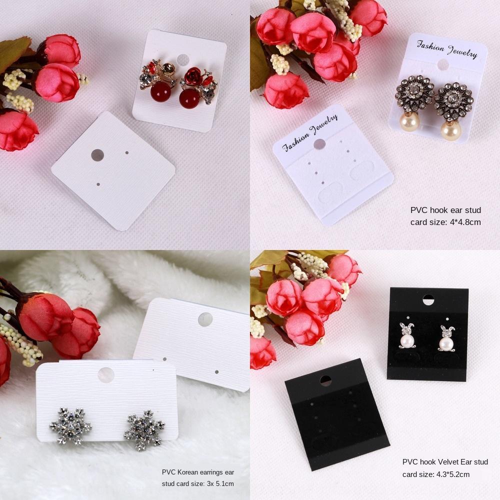 estilo de papel ouvido coreano anel de plástico orelha pendurada de jóias de papelão Brinco de jóias de papelão cartão de cartão de suspensão
