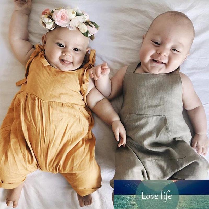 Младенческие комбинезоны Сплошные комбинезоны Детские досуг лук розетки новорожденных детская детская одежда длинный queare воротник