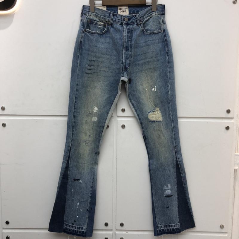 سليم تناسب معرض قسم تمتد بنطلون جينز الأضرار هول المتعثرة جان كاوبوي جان سروال فضفاض الرجال الملابس الجينز للرجال