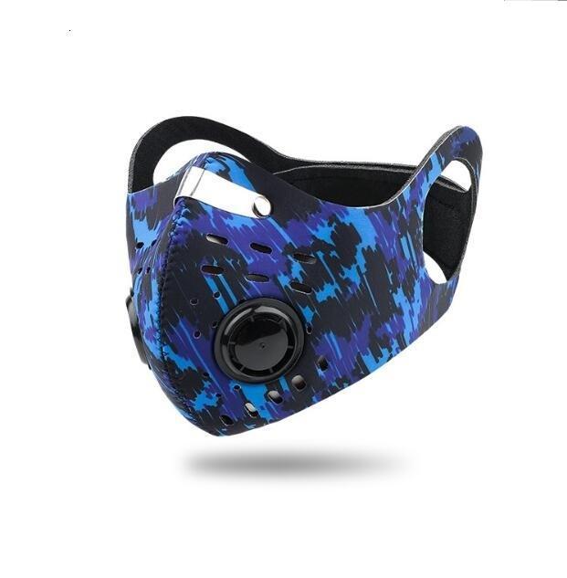 contro Anti smog polvere maschere sport esterno pm sicurezza 2,5 filtri sci personalizzato inquinamento motociclo neoprene Maschera facciale valvola maglia reathable Mask