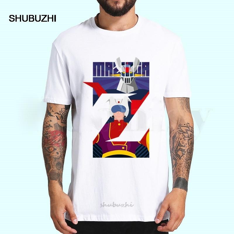 Mazinger Z Manga Robot Movie Печатные футболки Топы Весна Лето Тис Мужчины Женщины с коротким рукавом Повседневная Personaity футболки