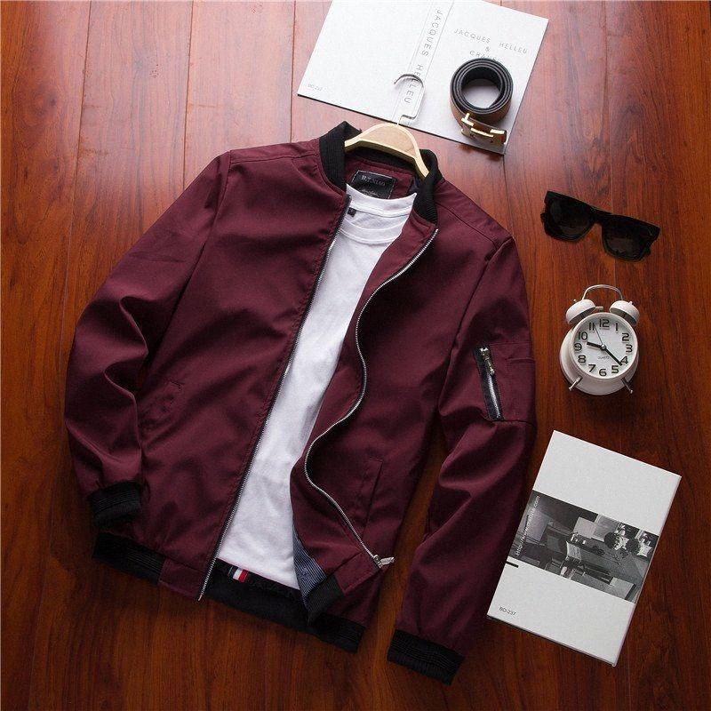 Весна новых людей Bomber Jacket Zipper Мужской Повседневный Streetwear пальто Hip Hop Slim Fit Pilot пальто Мужская одежда плюс размер 5XL, GA146 EH6w #