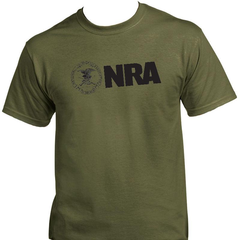 NRA, National Rifle Ass, 2ème amendement Gun T-SHIRT 2018 Mode couleur solide Hommes T-shirt sans manches T-shirt