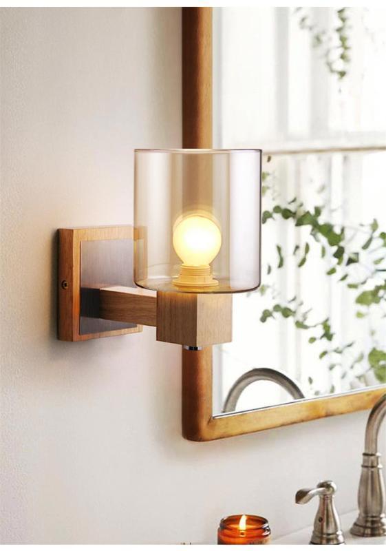 American Country pared de cristal de la lámpara de noche dormitorio lámpara retro pasillo baño Fondo de la luz de la sala pared de registro de luz