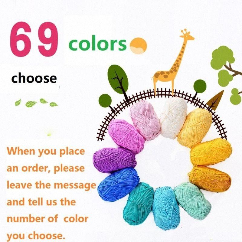 69 цветов 5шт высокого качества шерсти В Грубый хлопок крючком Вязание Pin Tool Milk Line вышивки Резьба Пряжа Hilos De Bordar ZchZ #