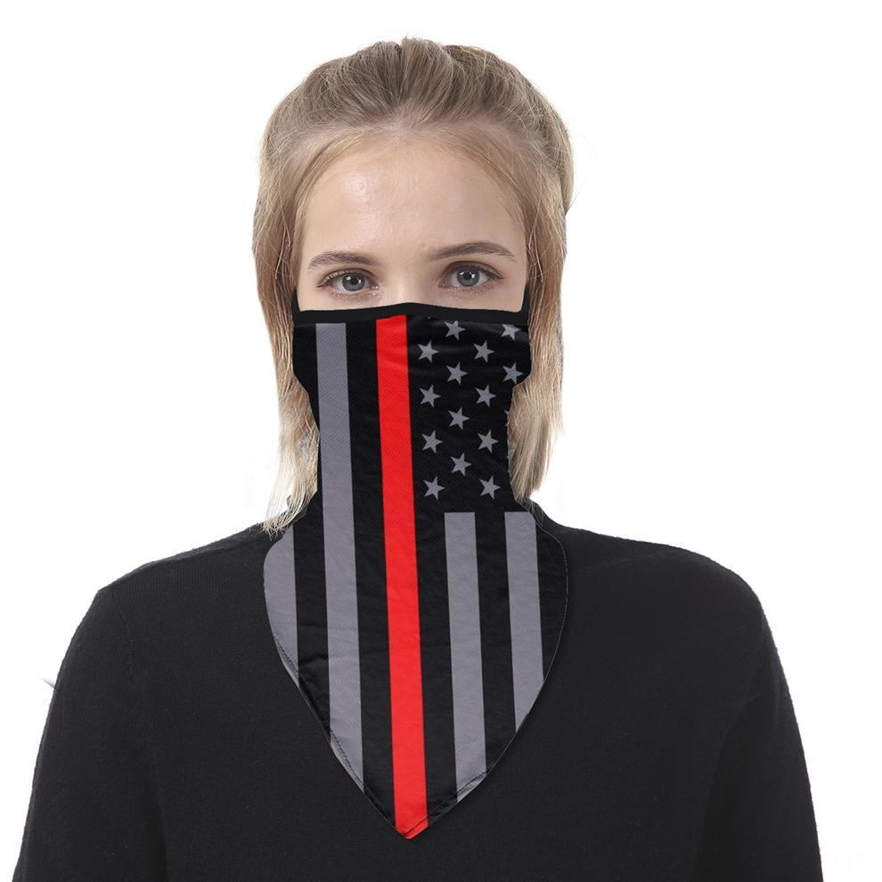C Sun Prevent triângulo Bandana Ear Hanger Chiffon Máscara Facial respirável Triângulo Metade Neck Impressão de capas Scarf Outdoor Ciclismo A POx58