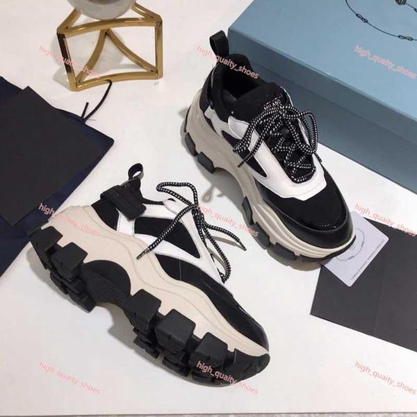 Prada casual shoes hococal Elmas rahat ayakkabılar Man lüks Tasarımcı Deri kristal kadın spor ayakkabı platformu Moda pcv Kalın alt AlphabeticTravel Ayakkabı