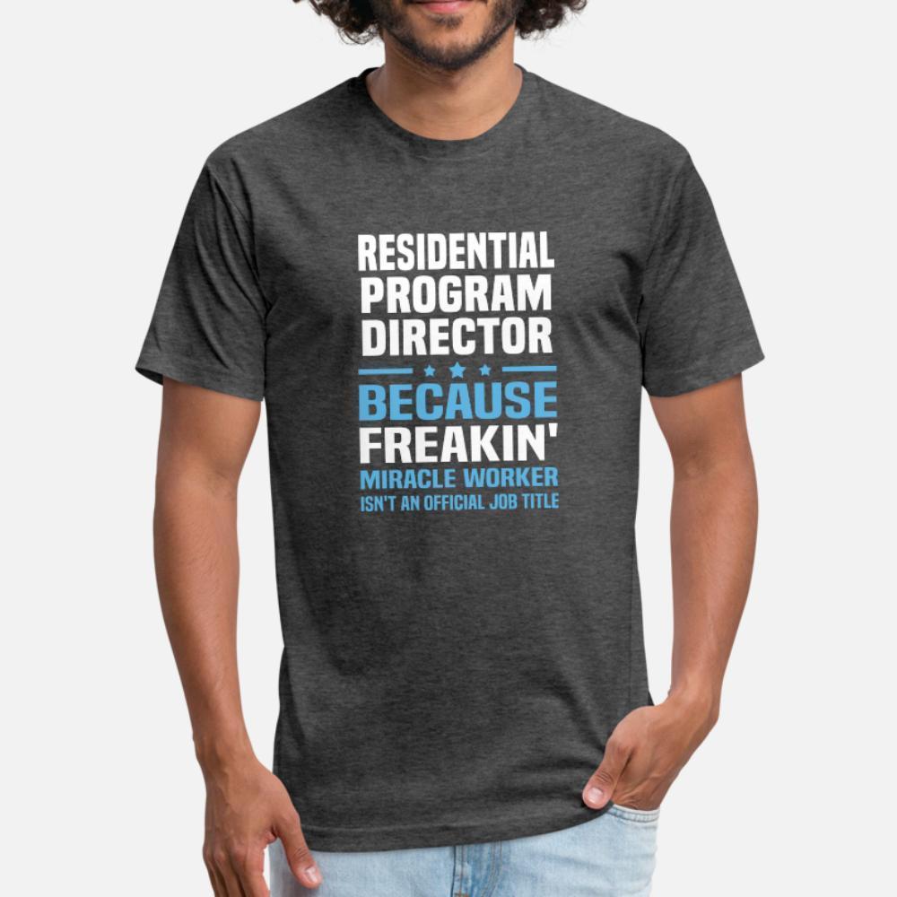 Residential Program Director T-Shirt Männer-Druck 100% Baumwolle plus Größe 3xl Muster Sonnenlicht Gemütlich Sommer Brief Hemd