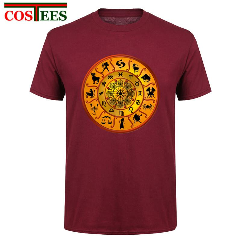 2017 Designer Printed Cotton Baumwollbeiläufiges Marke 12 Konstellationen Sternzeichen Astrologie t-Shirt-Ideen Einzigartiges Design T-Shirt