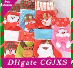 16 .5 * 12 centímetros Meias do Natal Crianças Socks Decoração saco de doces bonito Meias Ornamento Decoração cor aleatória
