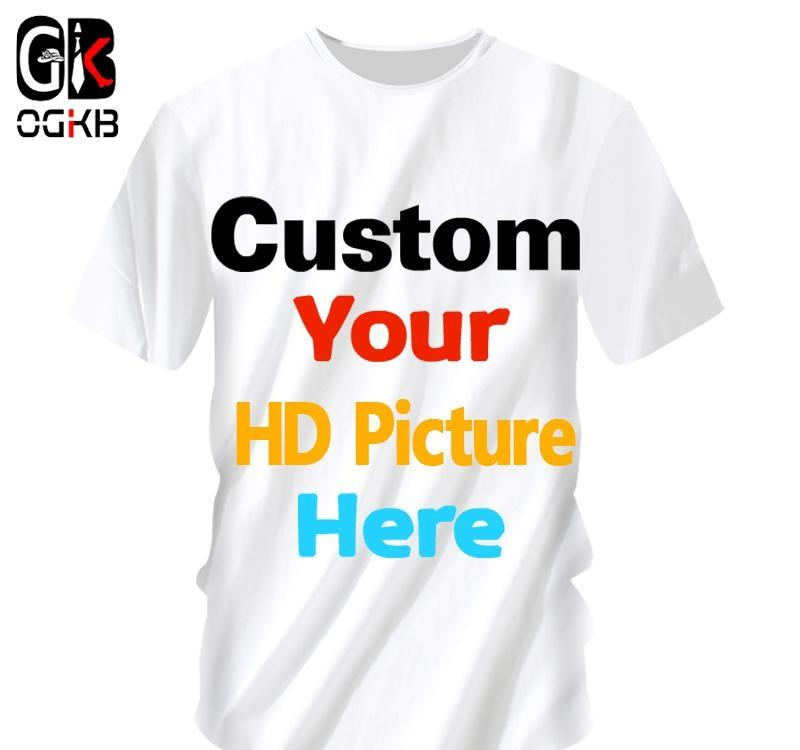 Ogkb Customized T Shirts Sumer Tops Women men Personalized Custom Picture Tshirt Print Galaxy Space 3d T-shirt Man Casual Tees Y19060601