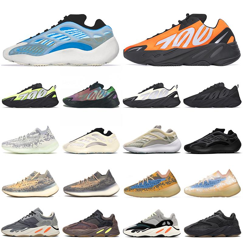 adidas stock x 카본 블루 700 wave runner Magnet Reflective Alvah Azael Inertia static solid gray Kanye West mens women running shoes 운동화 36-45