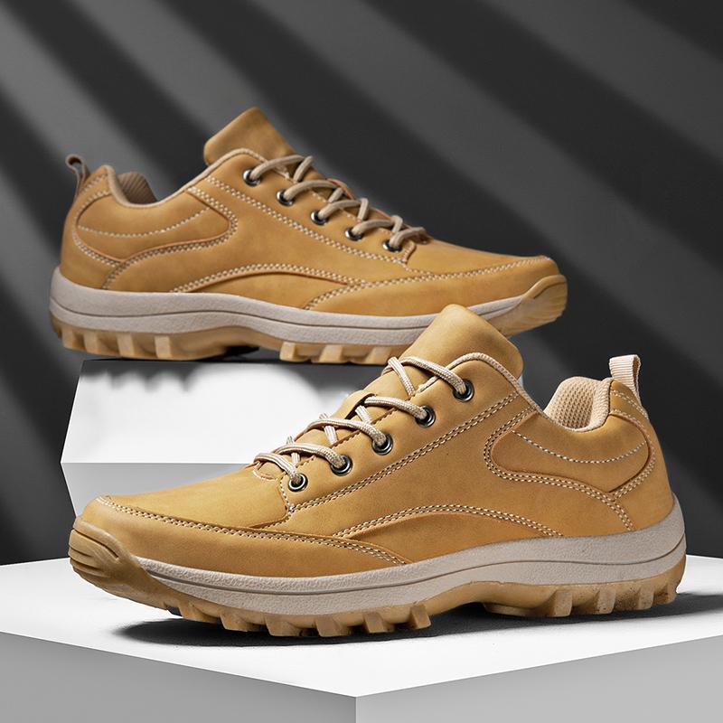 New Couro Outdoor Sports Caminhadas Sapatos Homens Pesca Waterproof Anti-skid de Trabalho Escalada Trekking Shoes Masculino Caça Botas 2020