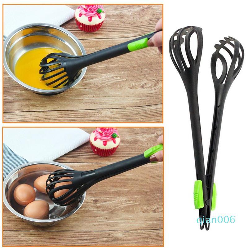 Nylon Whisk Egg Beater Nylon Lebensmittel Tongs Manuelle Ei Whisk Pasta Handmixer Egg Beater Dual-Purpose Lebensmittel Clip