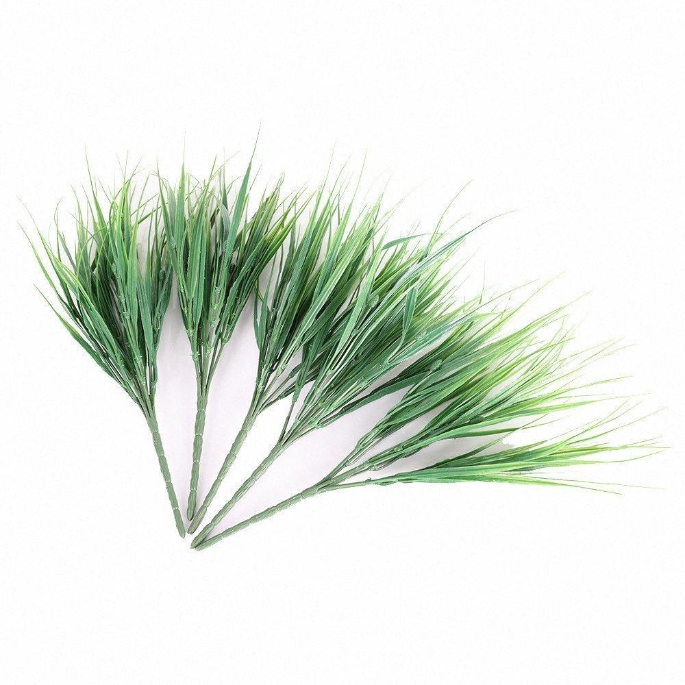 2019 5pcs / lot erba artificiale Piante per la decorazione falso matrimonio piante finte Erba impianto Per la casa Garden Room decorazione dell'ufficio yt3N #