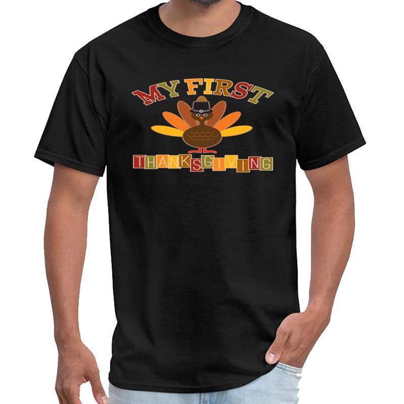 Printed My First Thanksgiving Turkey t-shirt gents t shirt casa de papel s-5xl top tee