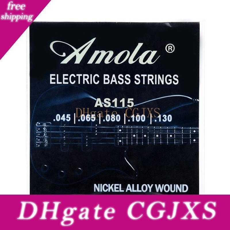 Spedizione gratuita Amola AS100 AS115 basso elettrico corde di acciaio Stings 045 064 080 100 commerci all'ingrosso degli strumenti musicali