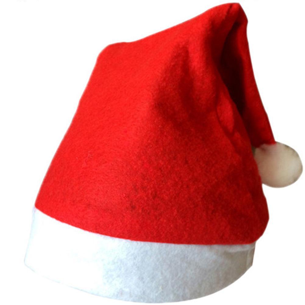 Navidad telas no tejidas a adultos y niños Caps Decoraciones Adornos sombreros de Papá Noel