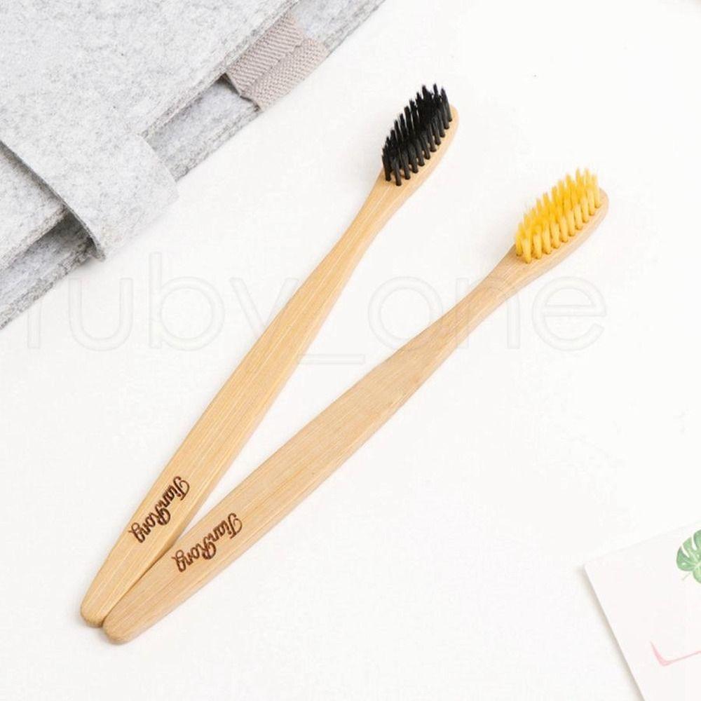 DHL-natürliche Bambus Zahnbürste Holz Brosse à Dents Bambus weichen Borsten Eco Bambusfaser Holzgriff Zahnbürste Werkzeuge für Erwachsene