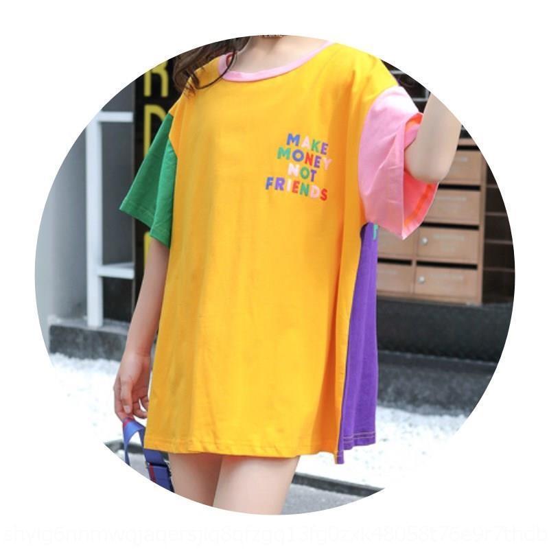goLdU ty de manga corta estilo occidental desgaste media grande nueva tong camiseta de chica 2odf0 estilo coreano del verano suelta m de los niños de Xu niños