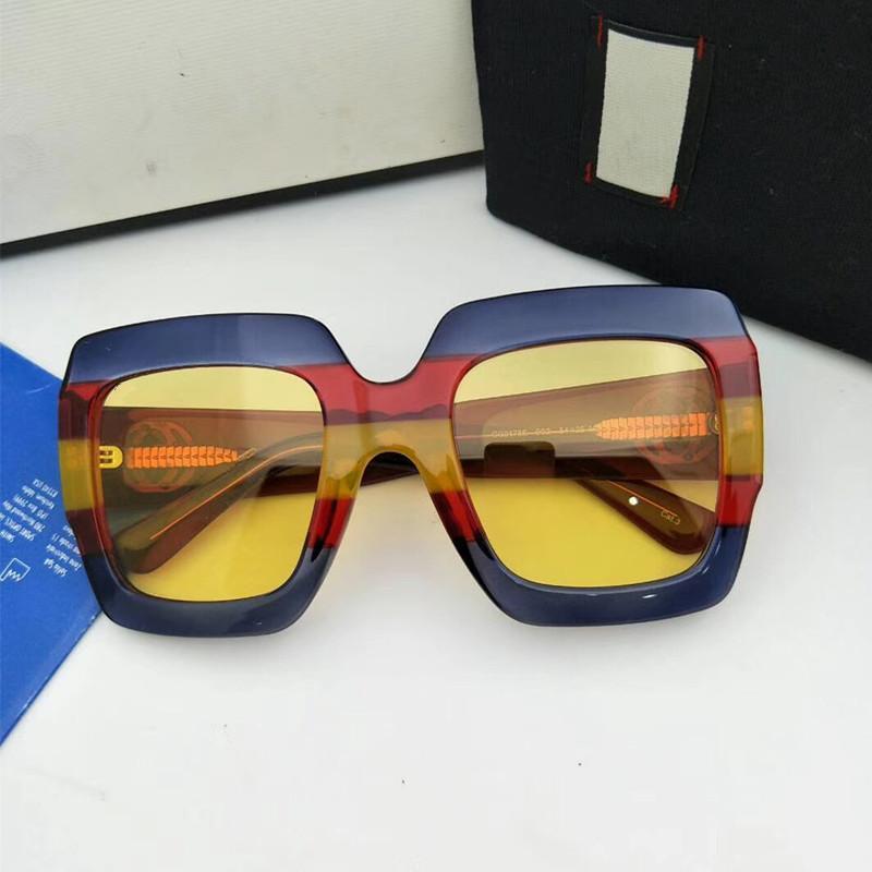 2020 تصميم الأزياء G0178 نموذج أسلوب الاستقطاب النظارات الشمسية إيطاليا-استيراد المعطي لون لوح سونغلاسي fullset حالة الجملة freeshipping