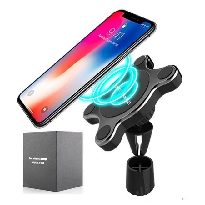 8 supporto magnetico Air Vent 6 7 2 con supporto per vendita al dettaglio senza fili Mount 1 Car Charger Android X Pacchetto Auto Iphone Samsung Car In LHvQG