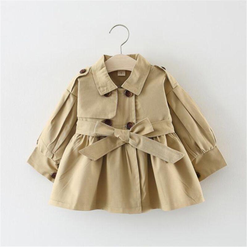 Bébé vêtements enfants veste printemps automne mignon filles trench veste ornerie garçons coupe-vent manteau enfants girls vestes