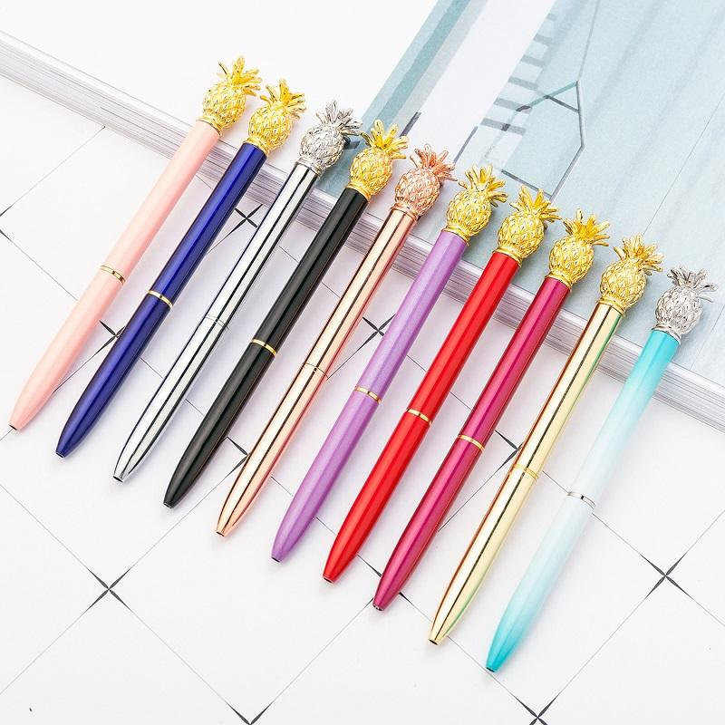 Wholesale Creative Metal Ballpoint Pens with Pineapple Head Fashion School Stationery Writing Supplies Gift Pen WB2578
