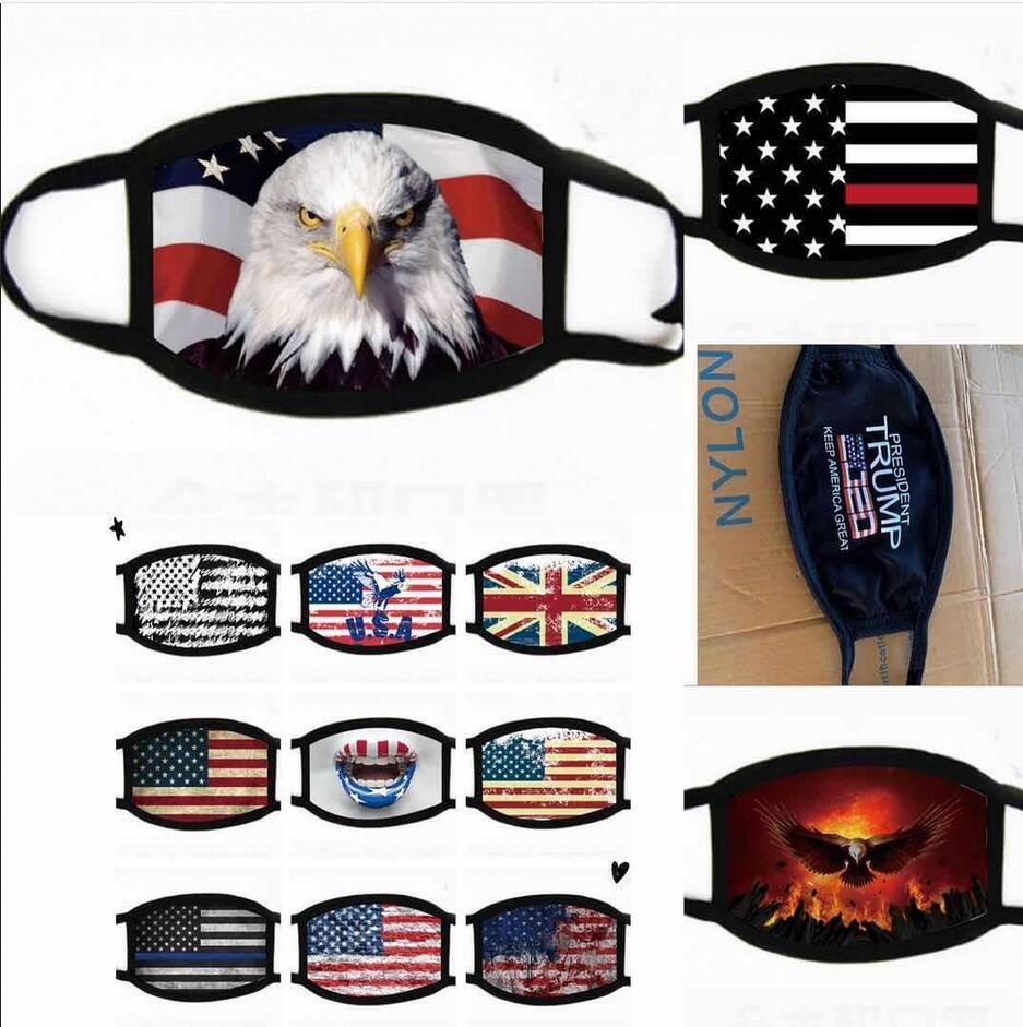 Маски для лица Trump Американских выборов Флагов Поставки пылезащитных печати хлопок маску мужчина и женщины американского флага партии маски Бесплатной доставки